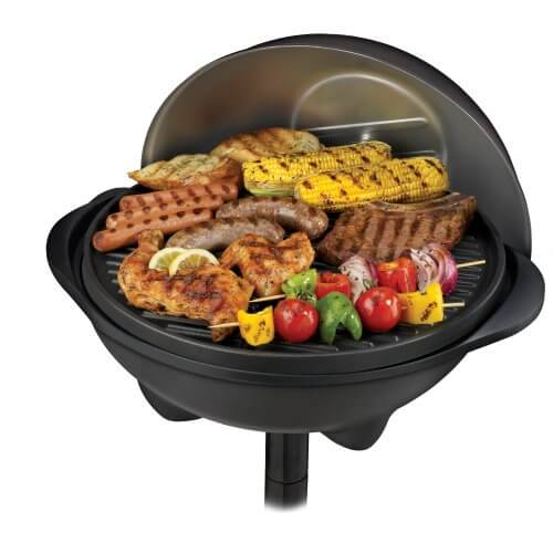 george foreman grill full of food