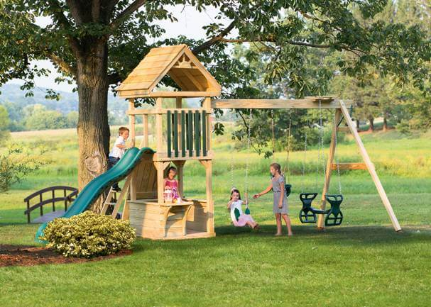 Amish Wooden Playset