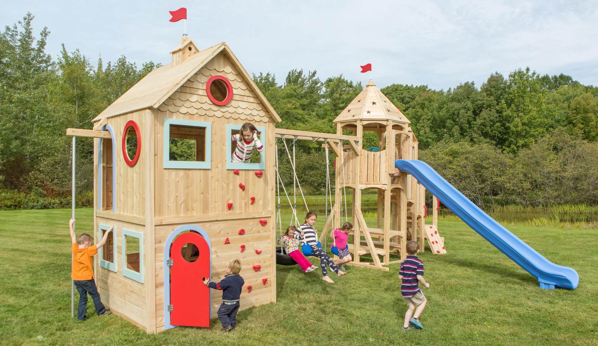 Deluxe Playground with Climbing Wall