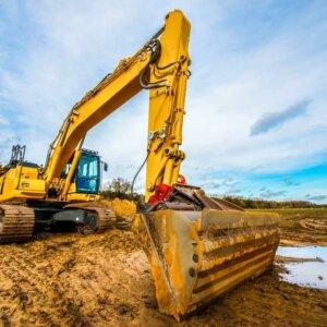 excavator for fish pond