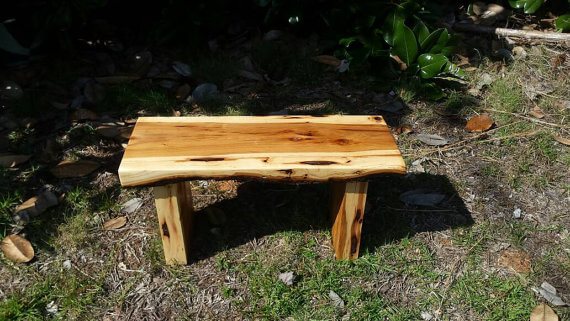 Live Edge Hickory Step Stool
