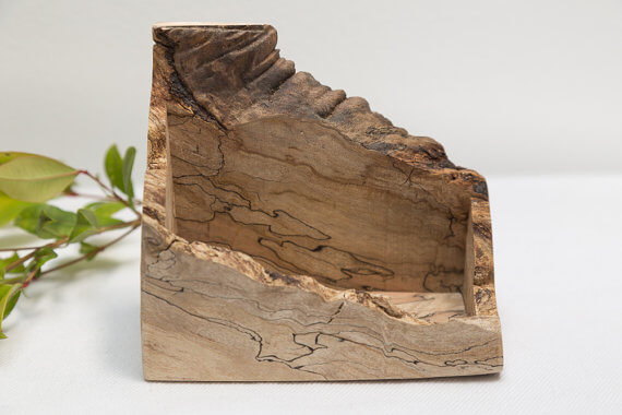 Natural Wood Business Card Holder