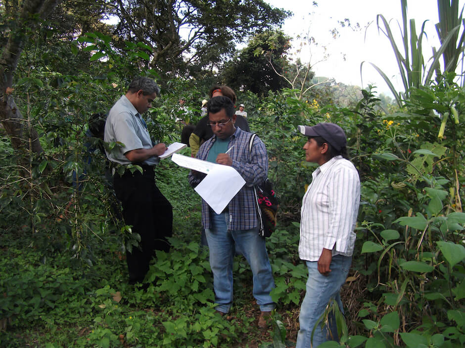 organic inspectors at a farm in Mexico