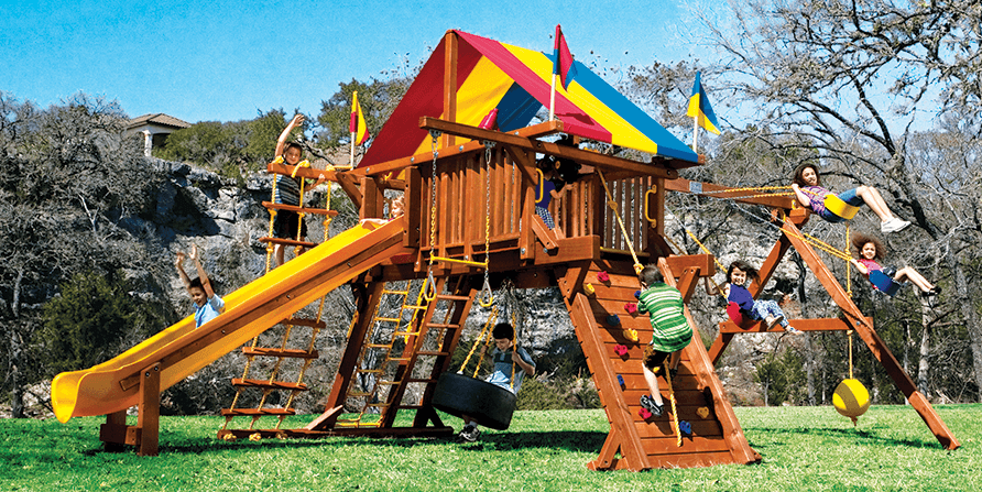 Rainbow Playground Castle