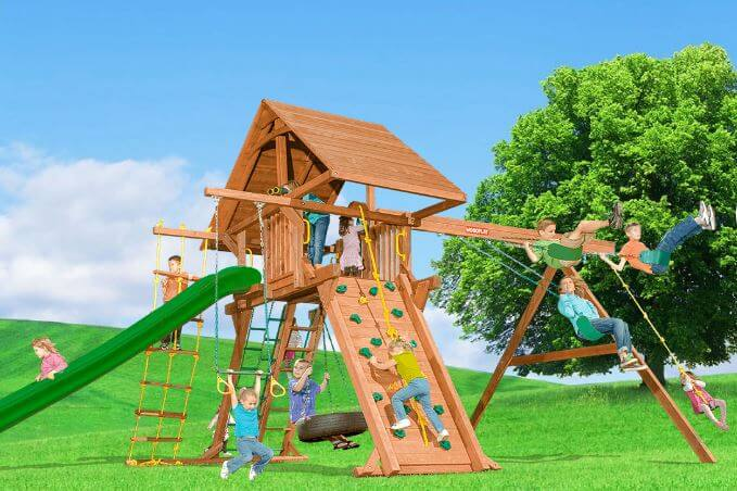 Redwood and Cedar Playsets
