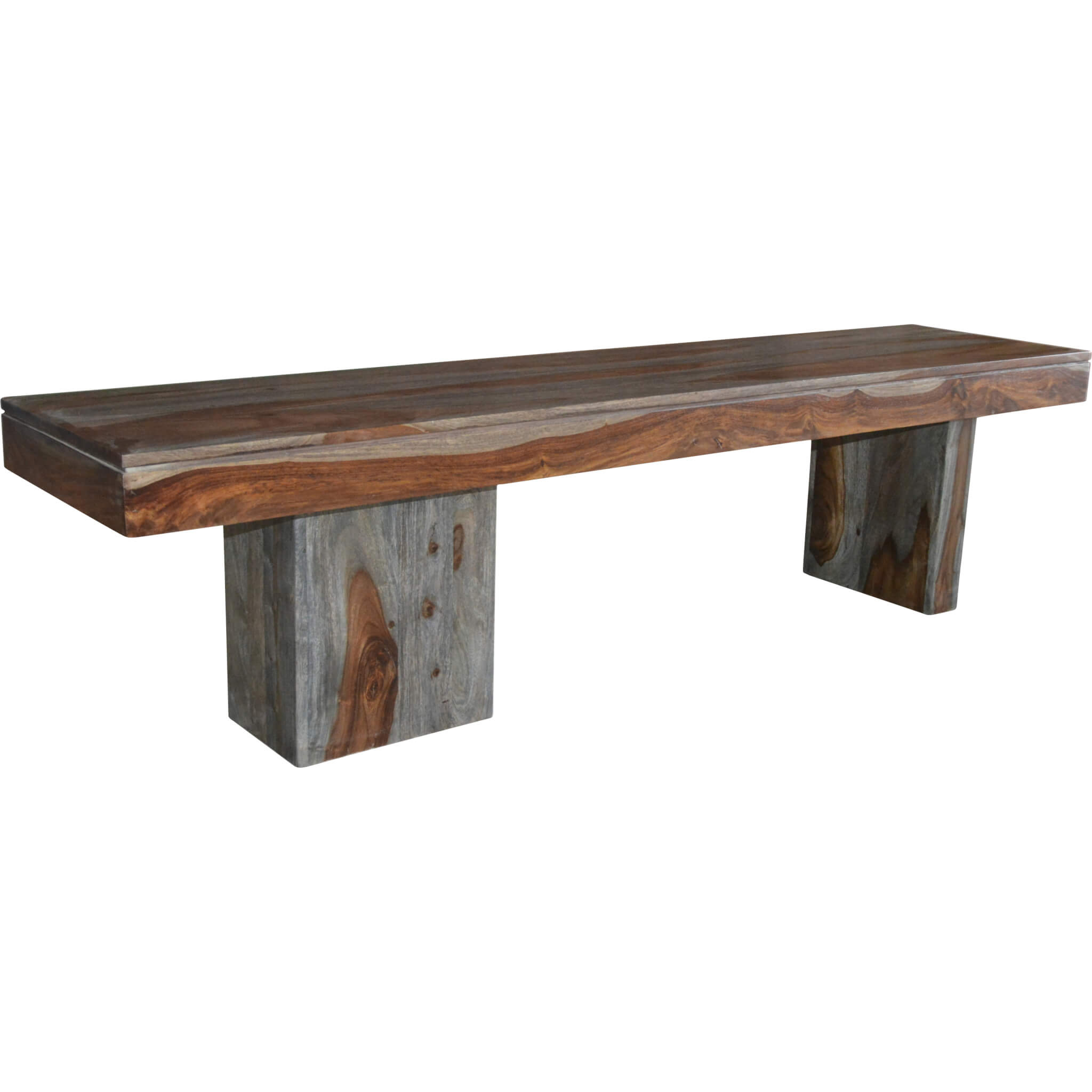 Sheesham Wash Wooden Bench