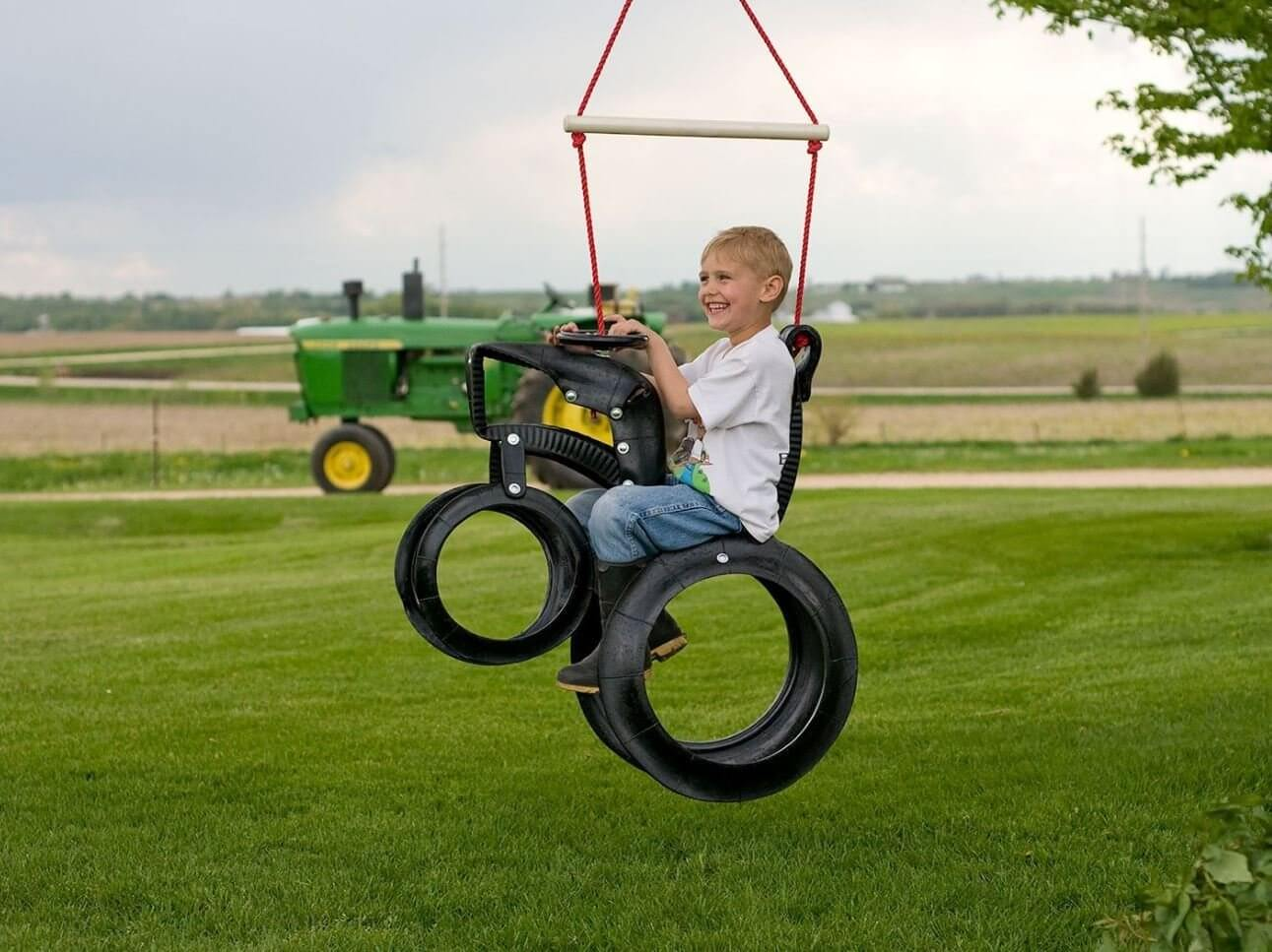 Tractor Recycled Tire Swing