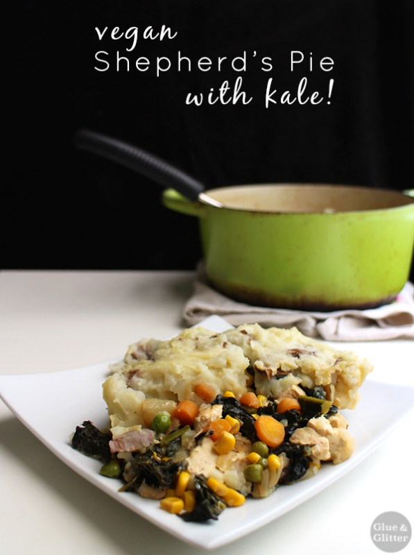 This vegan shepherd's pie combines some traditional shep pie elements with plenty of vibrant, green kale. It's comfort food with a healthy twist.