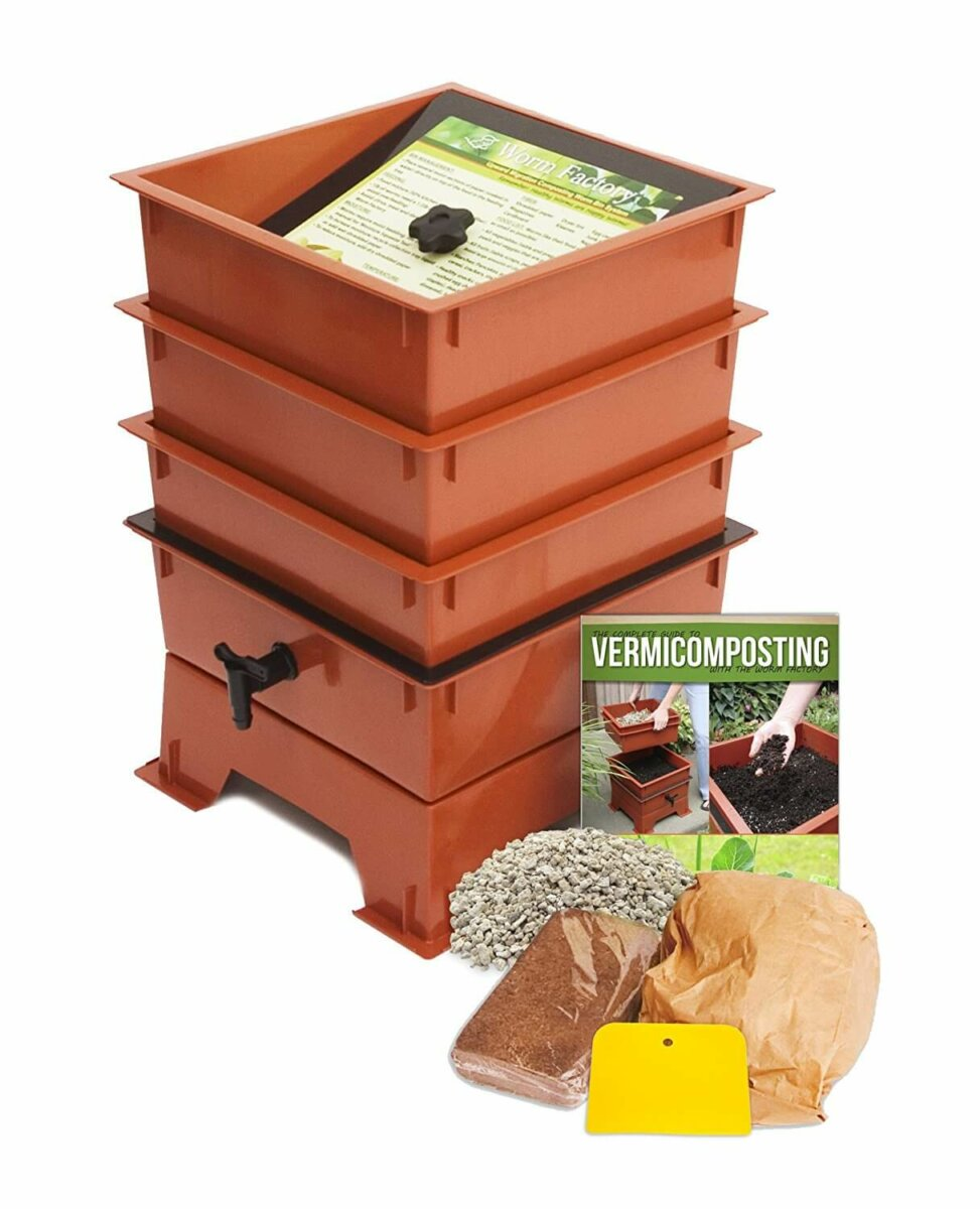 3 tray vermiculture compost bin
