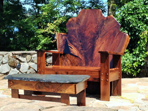 Walnut Slab Adirondack Chair