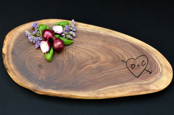 Wood Slice Cheese Board