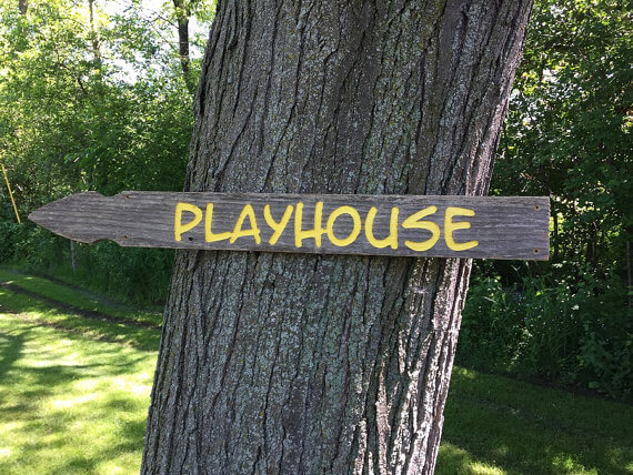 Wooden Playhouse Sign