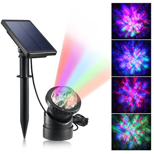Creative design multicolored submersible led lights for Garden pond lights