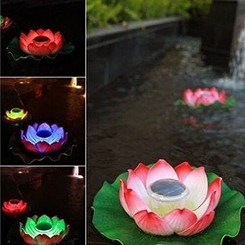 Genled Waterproof Solar Floating Color Changing Led Lotus