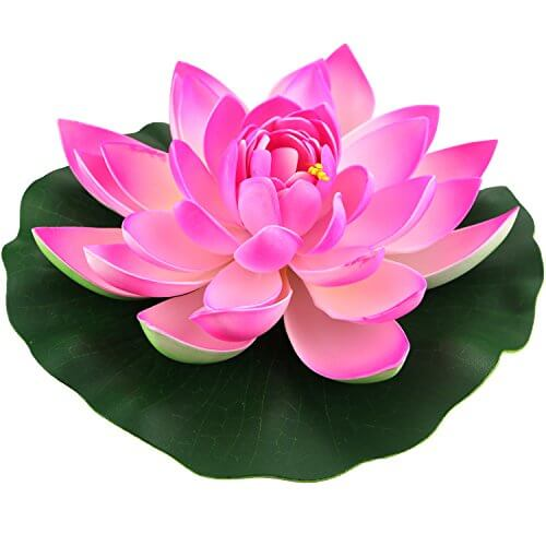 lightingsky artificial floating foam lotus flower pond decor water