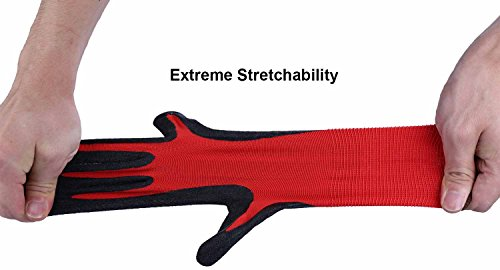 Ozero Nitrile Garden Work Gloves 6 Pairs Insteading