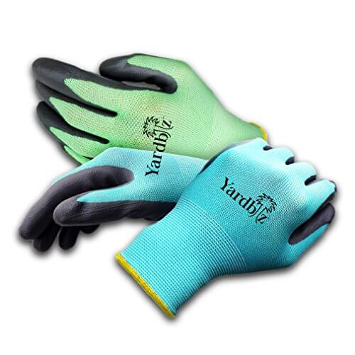 Yardbiz women 39 s gardening gloves 4 pairs insteading for Gardening gloves amazon