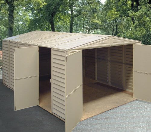 Double Door Vinyl Shed