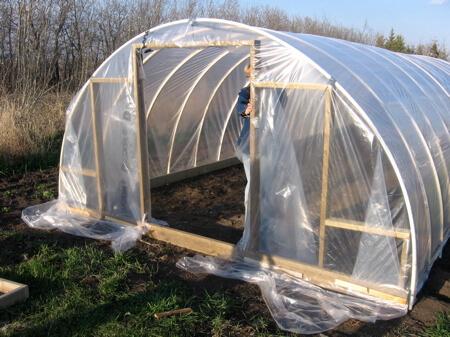 PVC Hoop Greenhouse