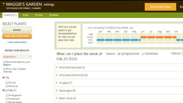 smart gardener planner