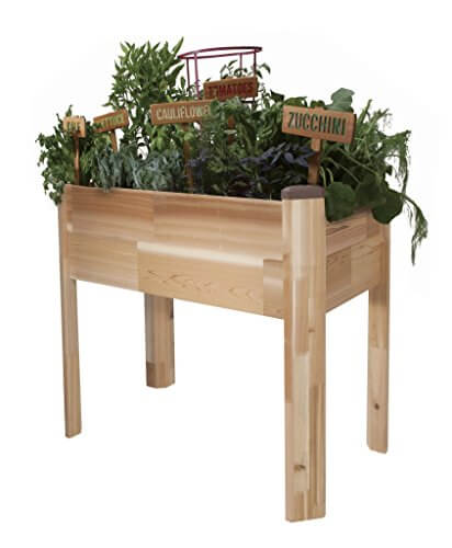 12 Ideas For Quirky Plant Containers To Jazz Up Your Garden: CedarCraft Elevated Garden Planter • Insteading
