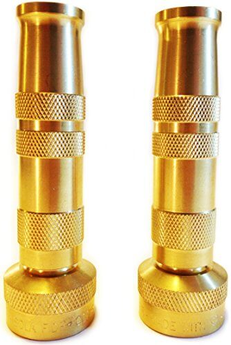 High pressure solid brass hose nozzle insteading
