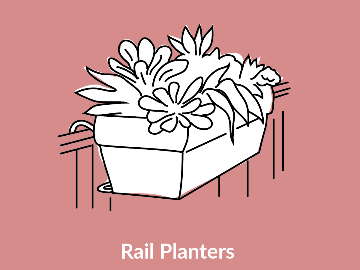 Rail Planters