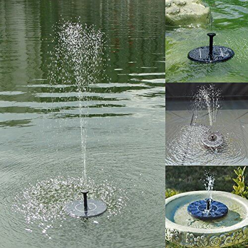 Soonhua solar panel floating fountain pump kit insteading for Pond fountains for sale