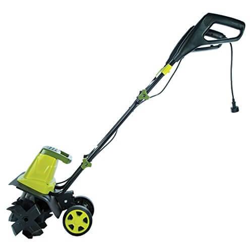 Garden Tiller Wheels : Sun joe electric tiller with wheels insteading