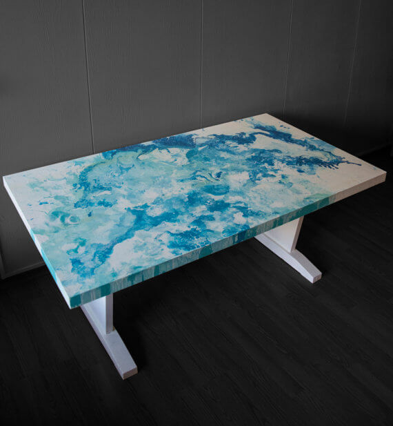 Abstract Art Table
