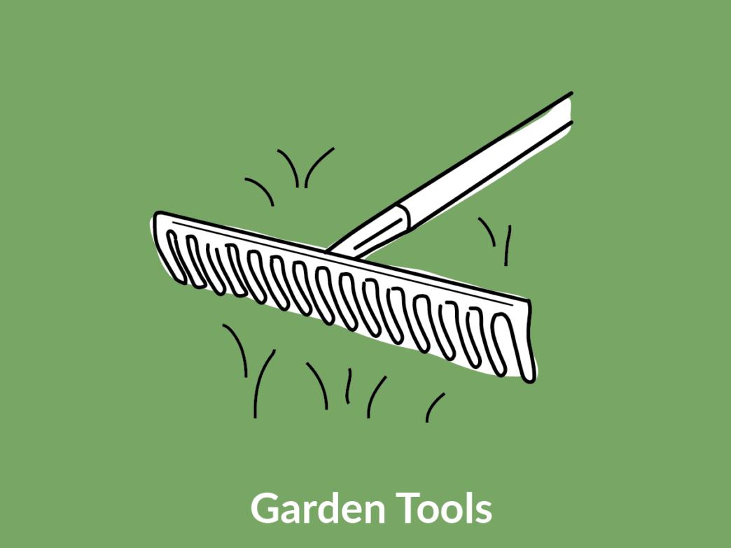 a garden tool at work