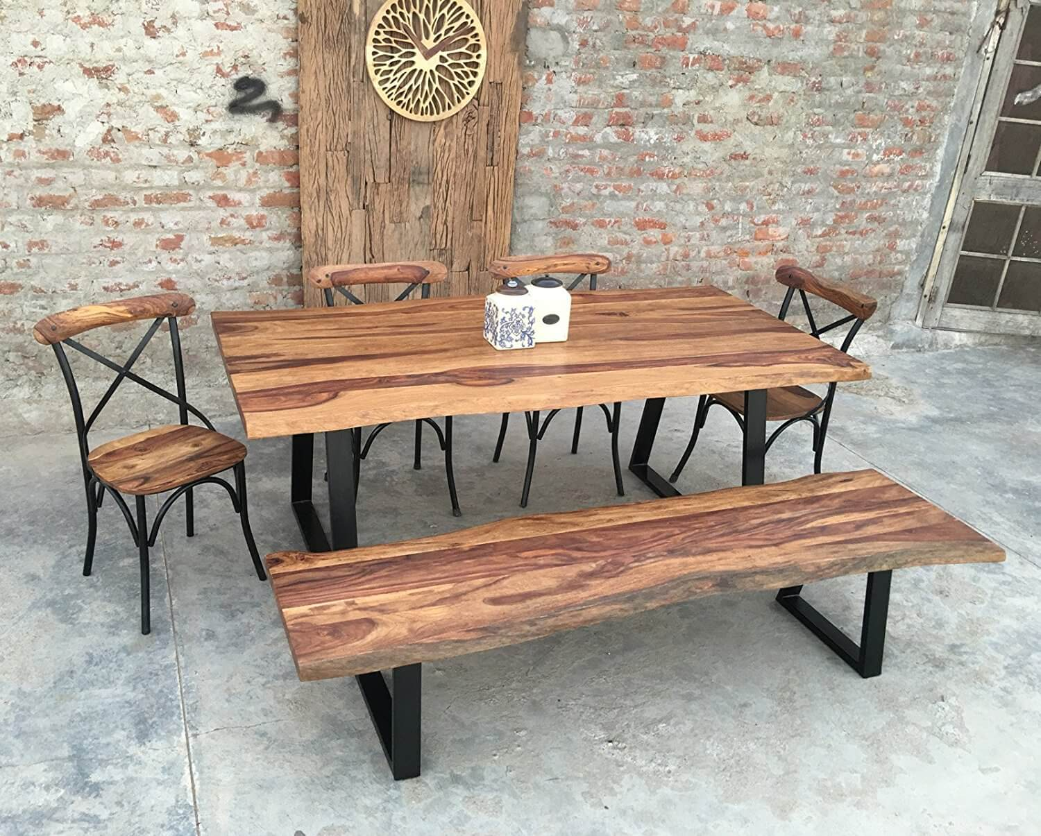 Live Edge Rosewood Dining Set