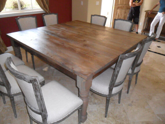 Recycled Square Dining Table