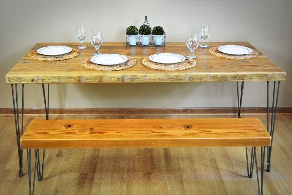 Salvaged Barn Wood Dining Table