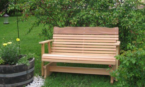 Kilmer Creek Amish Crafted 4 ft Cedar Porch Glider • Insteading