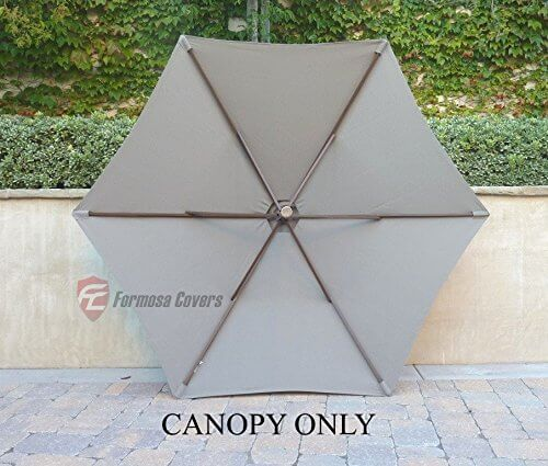 $19.99 & 9ft Single or Double-Vented Umbrella Replacement Canopy for 6 Ribs ...