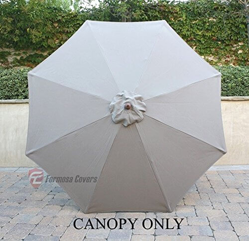 9ft Single Or Double Vented Umbrella Replacement Canopy For 8 Ribs