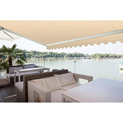 ADVANING Manual S Series 10 Ft. X 8 Ft. Manually Retractable Patio Awning