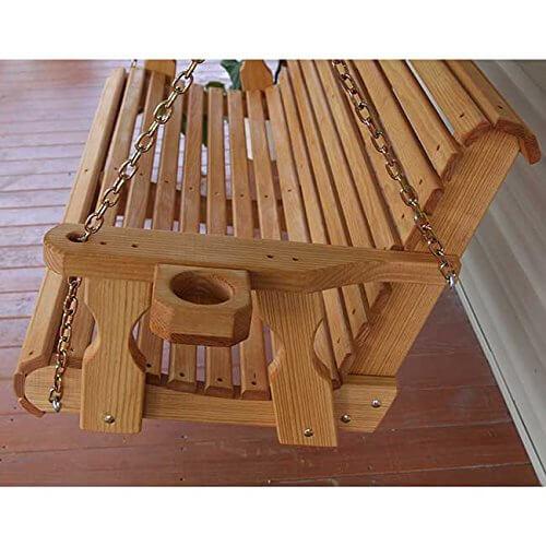 Amish Heavy Duty Roll Back 4ft Treated Porch Swing