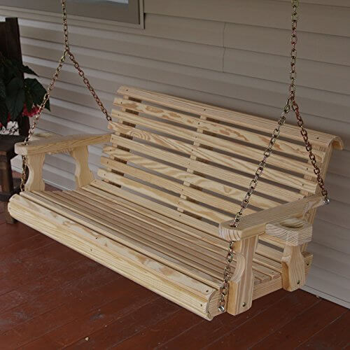 Amish Heavy Duty 800 Lb Roll Back 5ft Treated Porch Swing Insteading