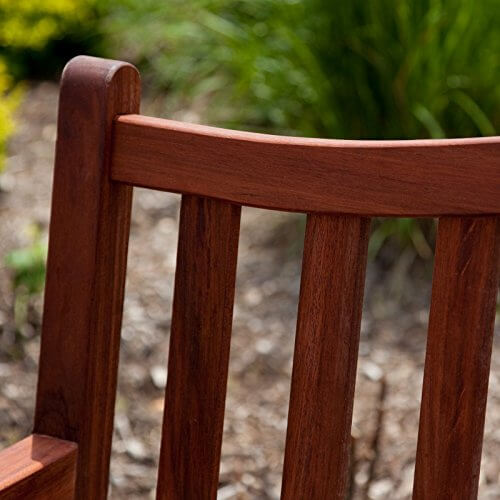 Belham Living Richmond 51 in. Curved-Back Outdoor Wood ... on Belham Living Richmond Bench id=30196