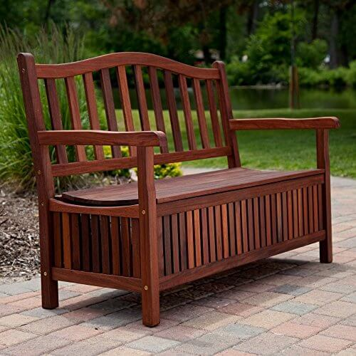 Belham Living Richmond 51 in. Curved-Back Outdoor Wood ... on Belham Living Richmond Bench id=45729