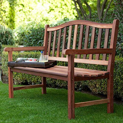 Belham Living Richmond Curved-Back 4 ft. Outdoor Wood ... on Belham Living Richmond Bench id=94391