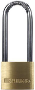 Brinks 161-42001 1-9:16-Inch 40mm Solid Brass Padlock with 2.5-Inch Shackle