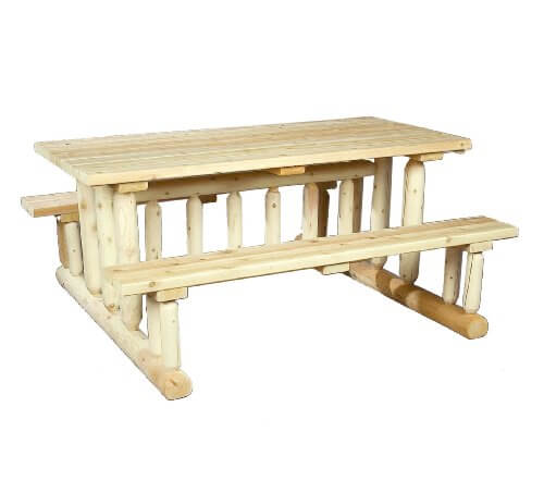 Kitchen Table Picnic Style: Cedarlooks Log Park Style Picnic Table • Insteading