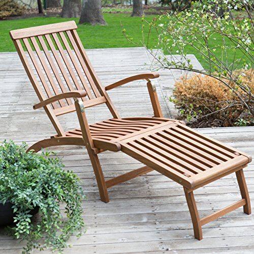Delightful Coral Coast Dorado Acacia Steamer Deck Lounge Chair