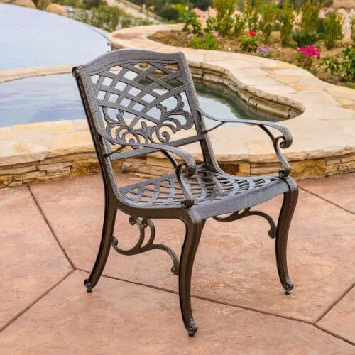 Covington Outdoor Cast Aluminum Dining Set