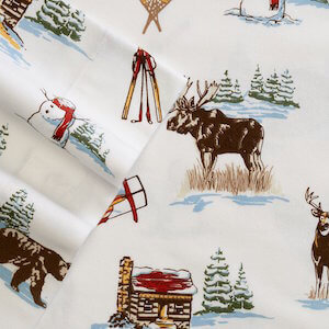 Cuddl Duds Ski Lodge Heavyweight Flannel Sheet Set Queen