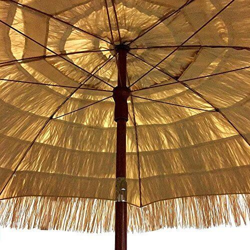 EasyGo 6.5 Ft. Thatch Patio Tiki Umbrella