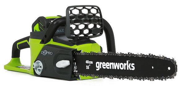 GreenWorks 20312 G-MAX 40V 16-Inch Cordless Chainsaw